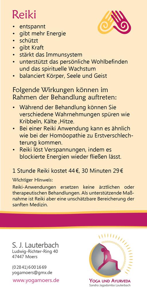 Folder/Flyer/Karte Marma Massage für Yoga Moers von Werbeagentur blickpunkte design