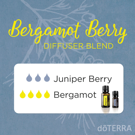 Aroma Welt: doTERRA Bergamot - Bergamotte Ätherisches Öl Diffusermischungen - Diffuser Ideen Bergamot & Juniper Berry