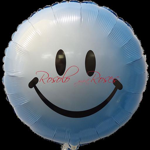 ballon smile bleu