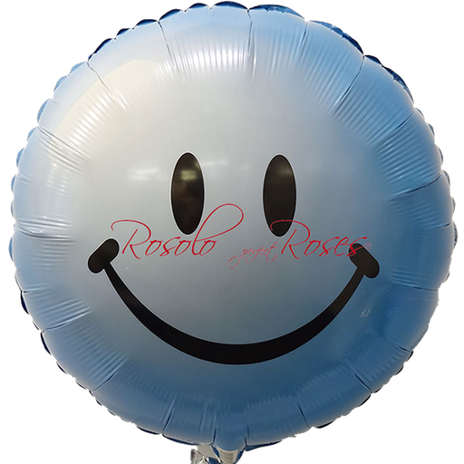 ballon smile bleu
