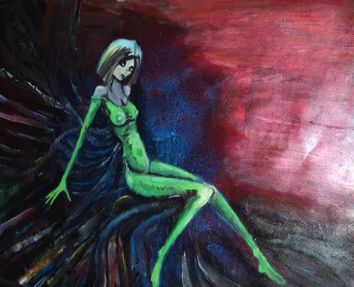 Green, acryl op papier, ca 2015, verkocht