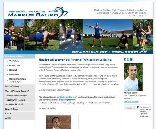 Überarbeitung Logo, Konzeption und Implementierung Webauftritt, Marketingberatung, SEO, http://www.markusbaliko.com
