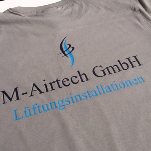 T-Shirt mit Firmenbeschriftung