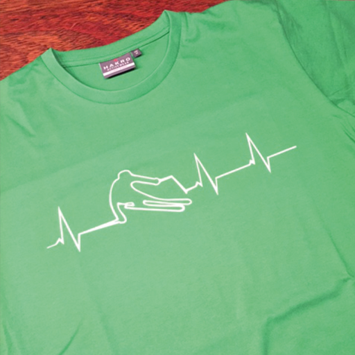 T-Shirt mit Flockdruck