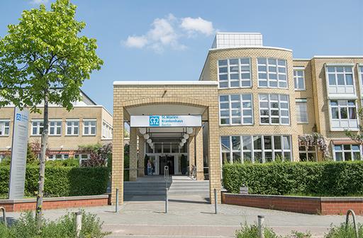 Fassade des St.Marien-Krankenhauses in Berlin Lankwitz
