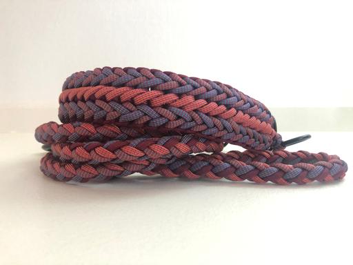 Knoten Mix (Rand Meggies Mood mit geänderter Mitte) und Leine 4-fach doppelt rund geflochten