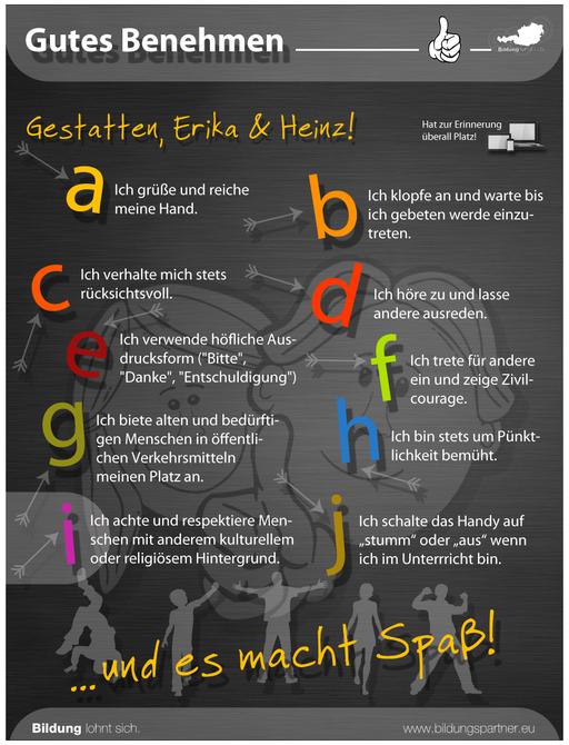 Bildungspartner Für die Jugend Gutes Benehmen- Bildungspartner Österreich