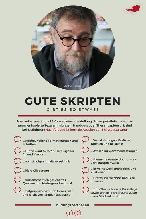 Bildungspartner Formale Kriterien für gute Skripten- Bildungspartner Österreich