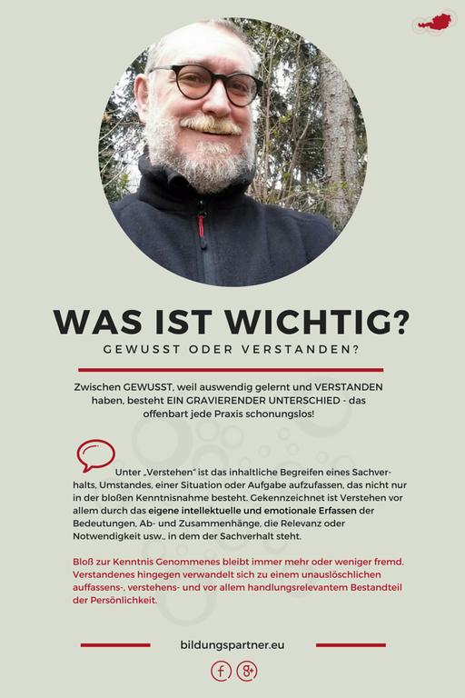 Bildungspartner Gewusst oder Verstanden?- Bildungspartner Österreich
