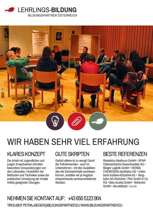 Bildungspartner Österreich Lehrlingsförderung in Tirol- Bildungspartner Österreich