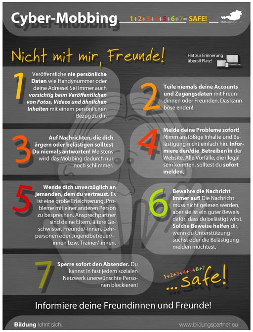 Bildungspartner Für die Jugend Cyber-Mobbing- Bildungspartner Österreich