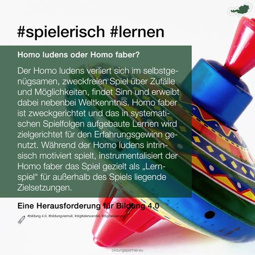 Homo ludens - homo faber- Bildungspartner Österreich