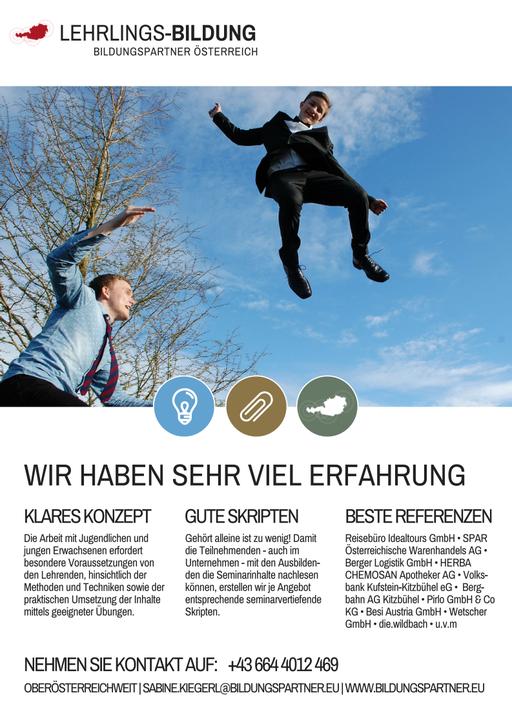Bildungspartner Lehrlingstrainings in Oberösterreich- Bildungspartner Österreich
