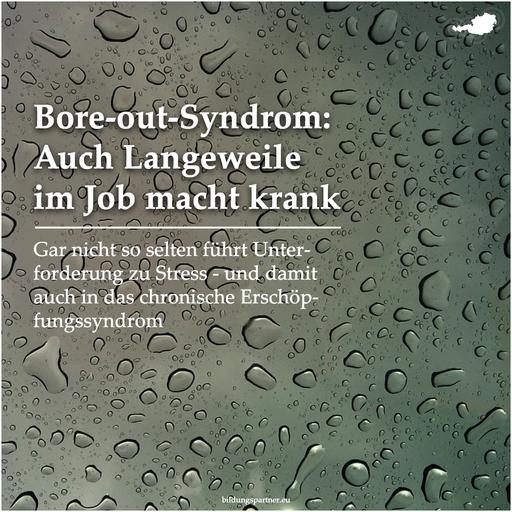 Bore-Out-Syndrom- Bildungspartner Österreich