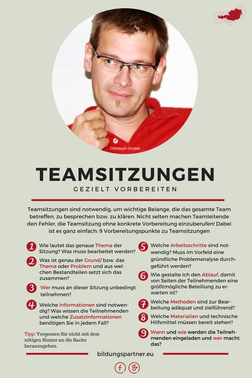 Bildungspartner Teamsitzungen gezielt vorbereiten- Bildungspartner Österreich