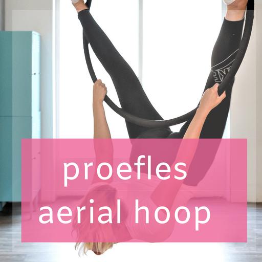 Proefles Aerial Hoop een vorm van luchtacrobatiek