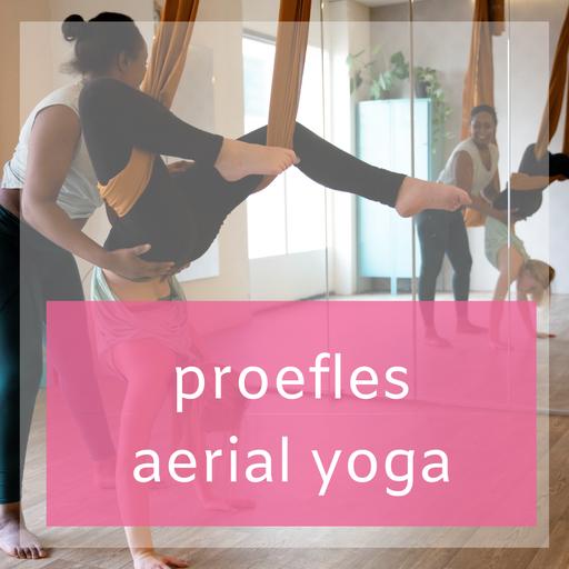 Proefles Aerial Yoga , Yoga in de lucht