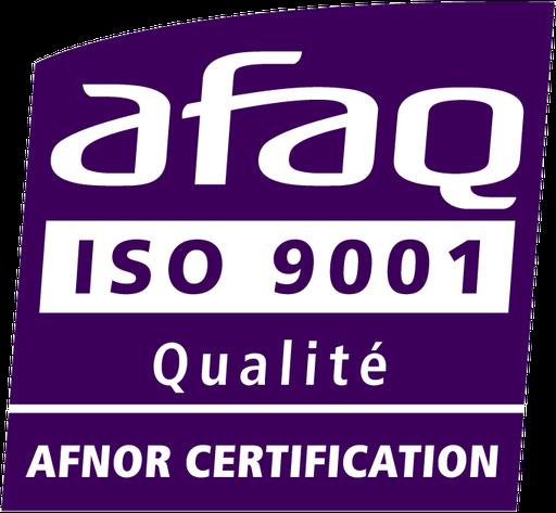 certifié AFAQ ISO 9001