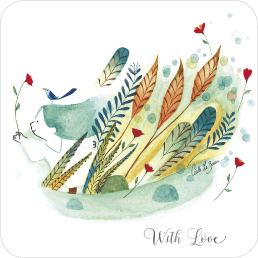 Carte postale illustrée par Cécile Le Brun