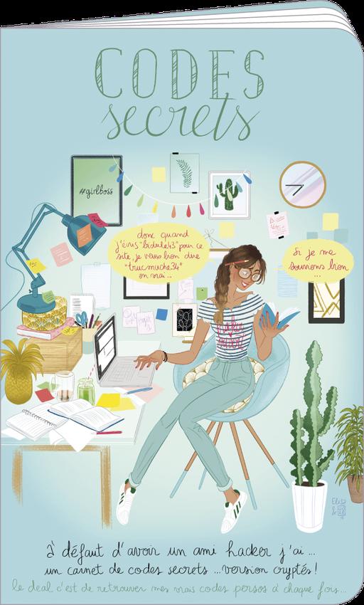 Carnet de codes secrets illustré par Elisa ROCHETAIN et Audrey BUSSI