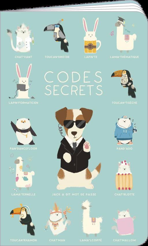 Carnet de codes secrets illustré par Camille CHAUSSY
