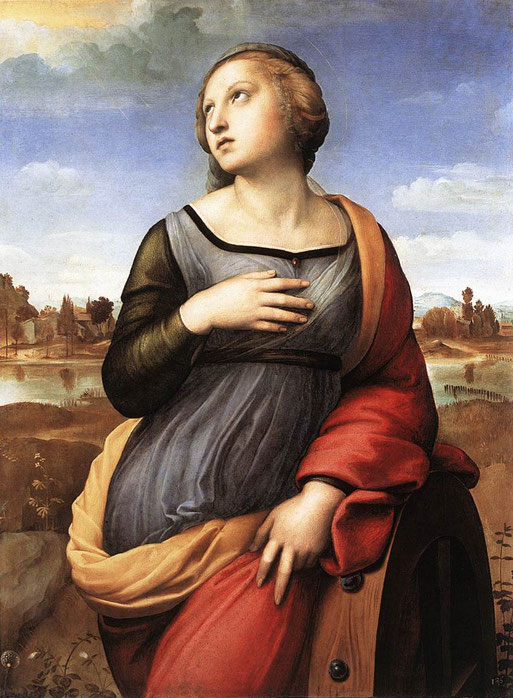 《アレクサンドリアの聖カタリナ》,1507年