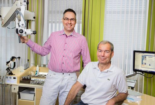 links: Dr. Begerow, rechts: Dr. Heimlich