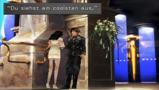 Squall sieht aber auch schick aus! Heutzutage ein Meme, damals grafisch der Hammer. Das fand auch schon Rinoa cool. Eventuell deswegen hat Squall das Eis-Element?