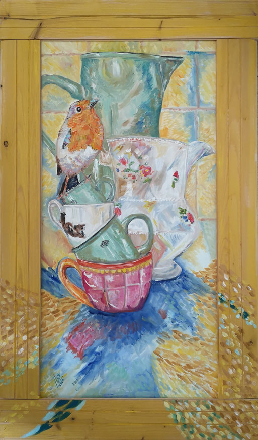 51. Robin...crown of my cups 40x80cm