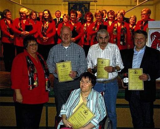 25 Jahre Mitglied - Ehrungen 2012
