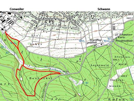 Wanderung: Conweiler - Axtbachtal - Heubuckel