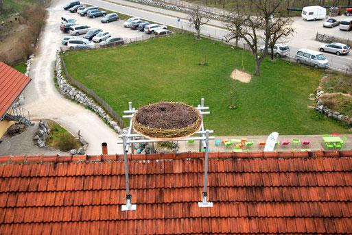 Bild: Weißstorchenplattform Gut Hügle in Ravensburg-Bottenreute