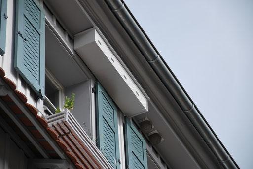 Bild: Mauersegler-Nisthilfe aus Holz NABU Ravensburg