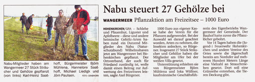 Wilhelmshavener Zeitung v. 23.3.2015