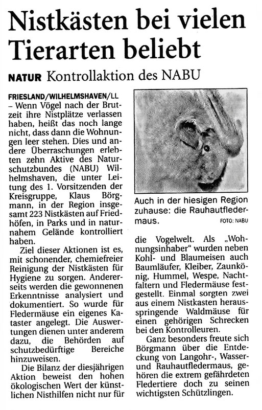 Wilhellmshavener Zeitung  v. 6.12.2014