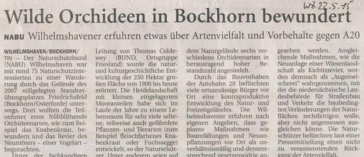 Wilhelmshavener Zeitung v. 22.5.2015