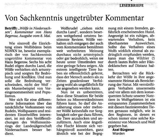 Jeversches Wochenblatt v. 28.5.2015