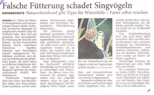 Nord West Zeitung  2.1.2014
