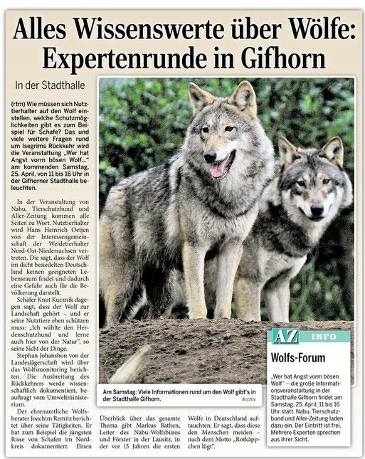 Aller Zeitung vom 22.04.2015