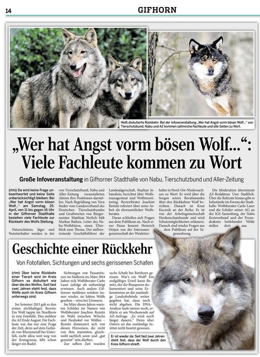 Aller Zeitung vom 13.04.2015