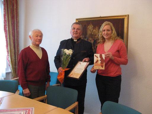 Heinz Müller, Pfarrer Josef Rudolf, Anja Grabs