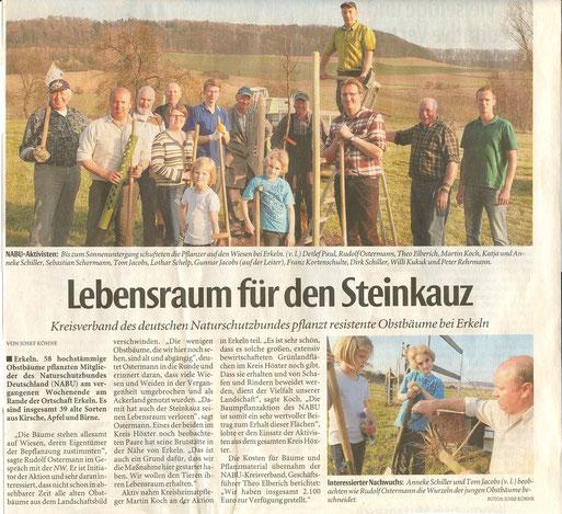 Pressebericht / Quelle: Neue Westfälische 28.3.12