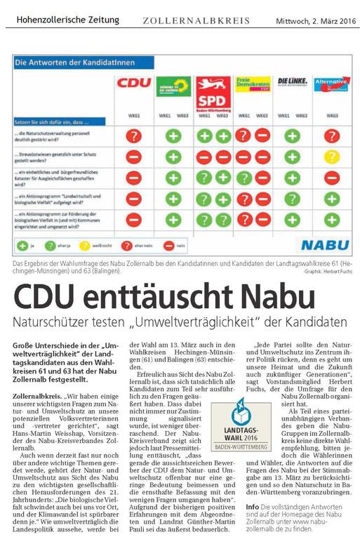 Hohenzollerische Zeitung vom 02. März 2016