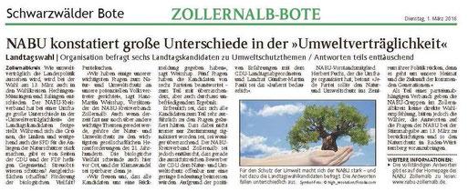 Schwarzwälder Bote vom 01. März 2016