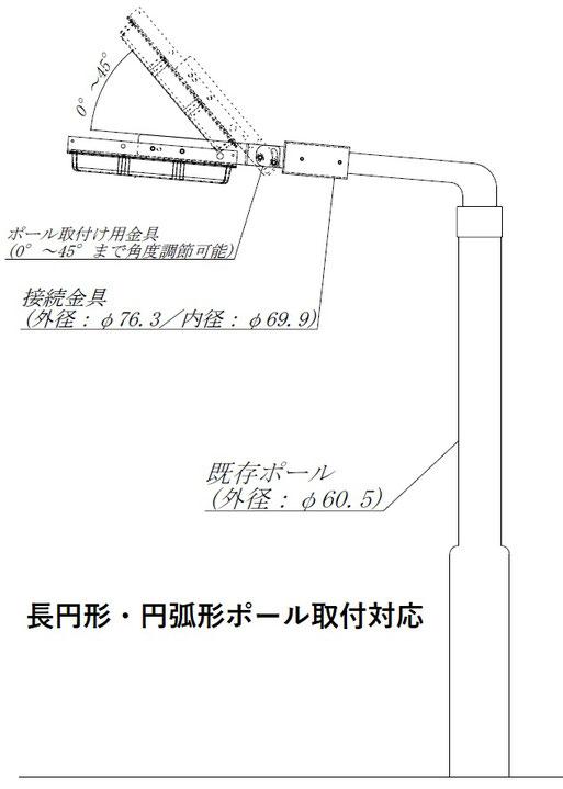 道路照明LED 長円アームLED