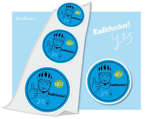 Radlchecker Button