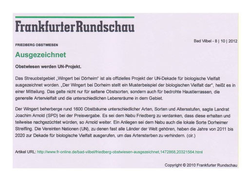 Frankfurter Rundschau, 8.10.2012