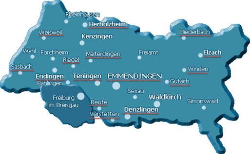 Gemeinden im Kreis Emmendingen