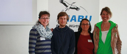 Christiane Kranz, Sebastian Olschewski, Sylvia Schneider und Maike Petersen vom NABU-Heidelberg. Foto: Yvonne Martin