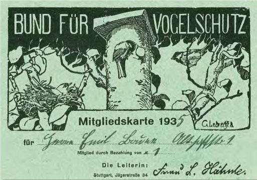 Mitgliederausweis 1935